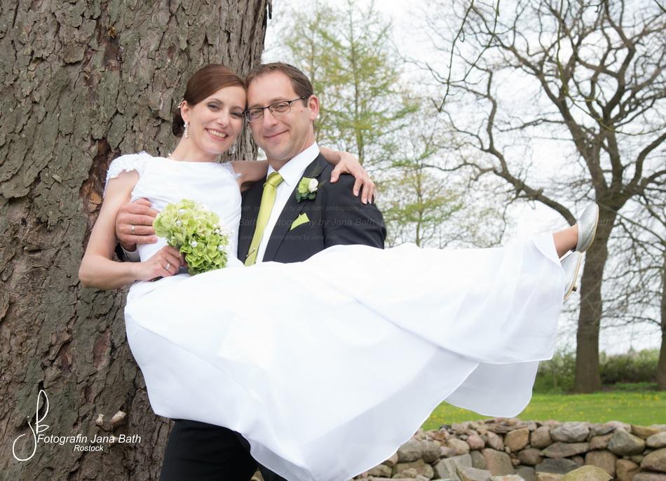 Brautpaar im Wildkräuterhotel Ehmkendorf