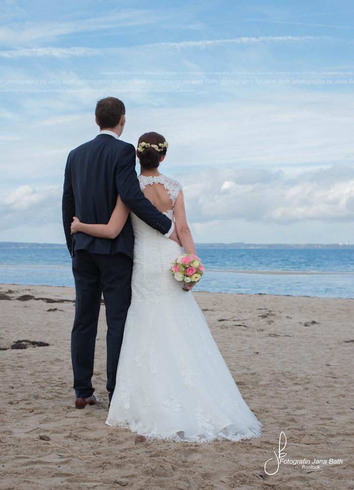 Brautpaar am Timmendorfer Strand im Oktober 2016