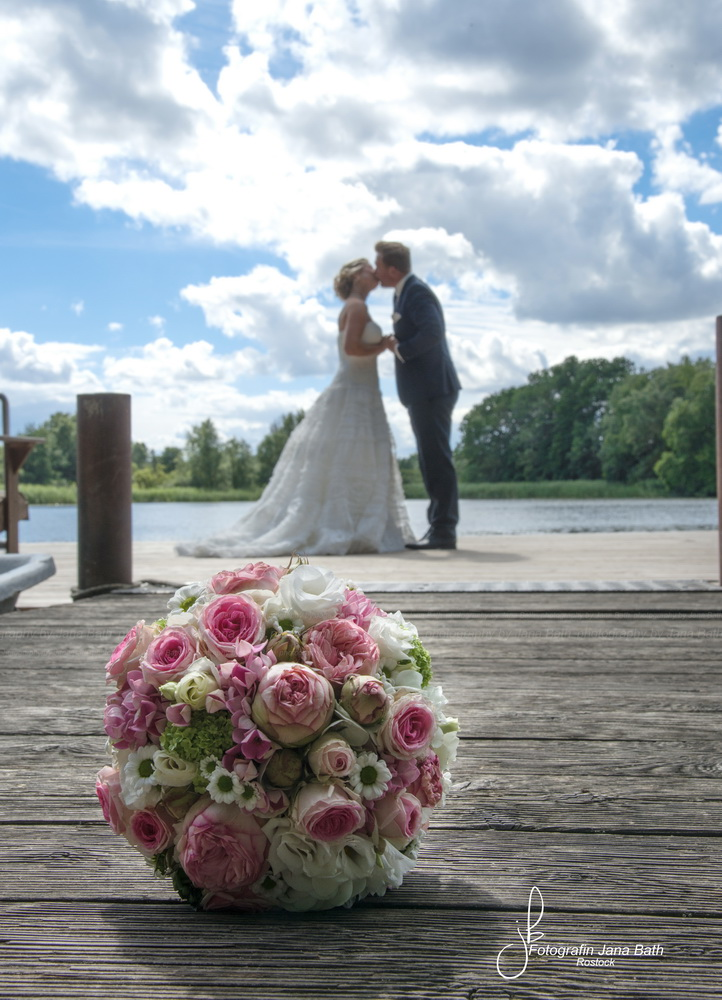 Brautpaar und Brautstrauß, Fotografin Jana Bath 2016