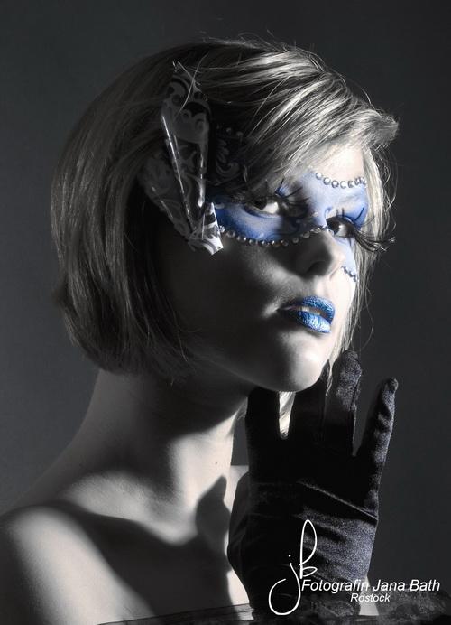 Kunstportrait Maske - Fotostudio Jana Bath Rostock