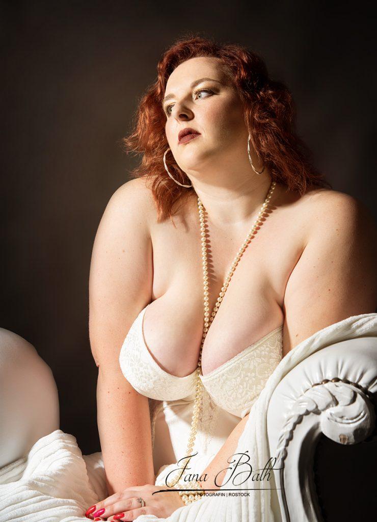 Retro Erotikfoto, sinnliches Portrait